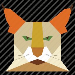 animal, animal face, cartoon, cat, cat face, linear animal icon