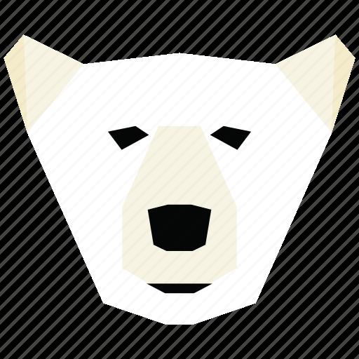animal, animal face, bear, bear face, cartoon, linear animal icon