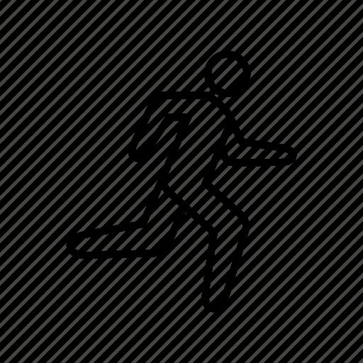 fitness, jog, man, run, sport icon