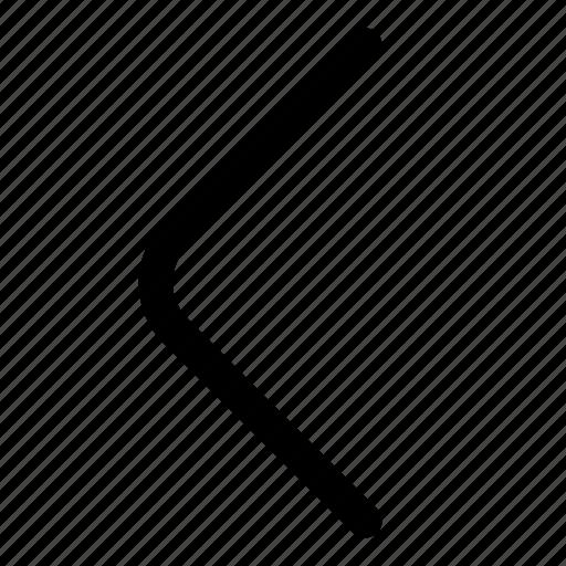 arrow, back, directional, left, previous icon