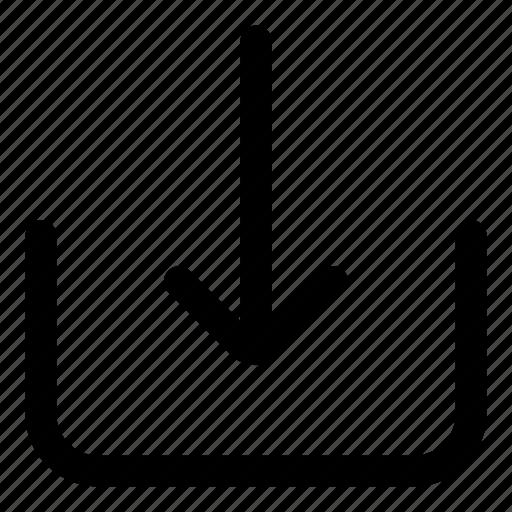 arrows, direction, download, downloading, inbox, orientation icon