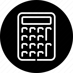 business, calculator, equipment, finance, office icon