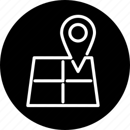 business, map, marker, navigation, travel icon