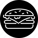 burger, cheeseburger, fast food, food, hamburger, junk food, snack icon