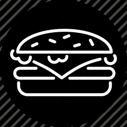burger, cheeseburger, fast food, food, hamburger, junk food, snack icon