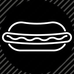 bun, fast food, food, hot dog, junk food, sausage, snack icon