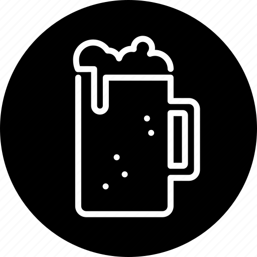 alcohol, beer, beer glass, drink, food, froth, glass icon