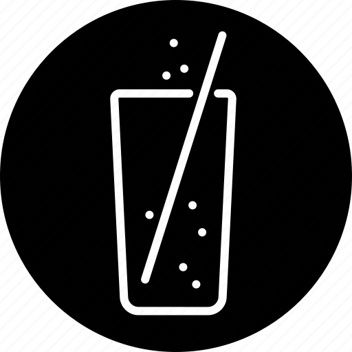 beverage, cola, drink, food, glass, lemonade, straw icon