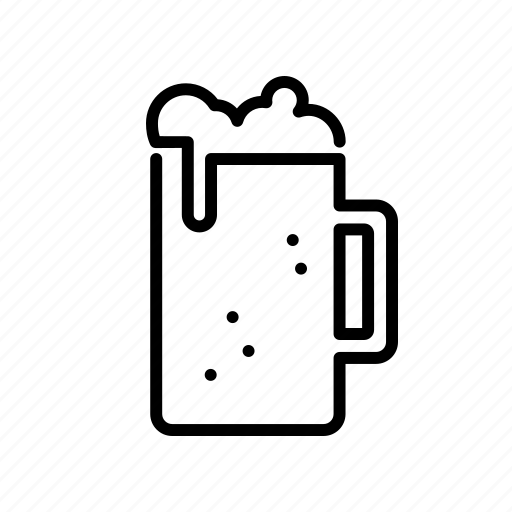 alcohol, beer, beverage, drink, froth, glass icon