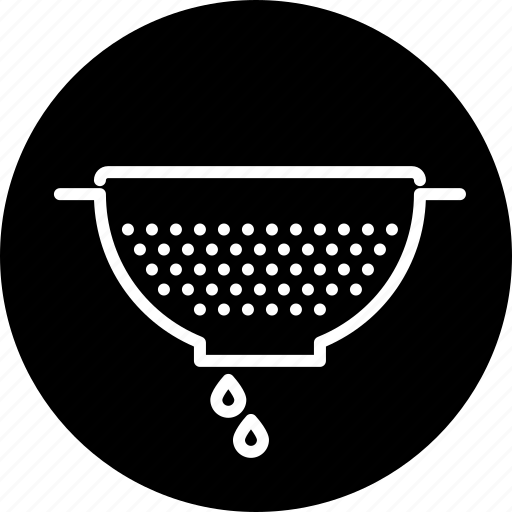 colander, cooking, household, kitchen, sieve, strainer, utensil icon