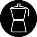 coffee maker, cooking, espresso, household, kitchen, mocha, utensil icon