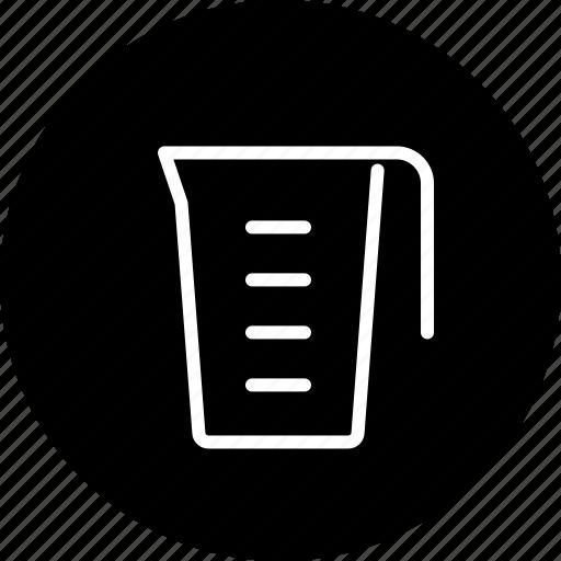beaker, cooking, equipment, household, kitchen, measure, utensil icon