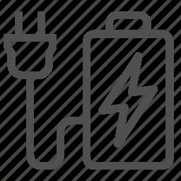 accumulator, alkaline, battery, electrical, energy, lightning, power icon