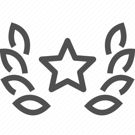 award, garland, premium, reward, star, wreath icon