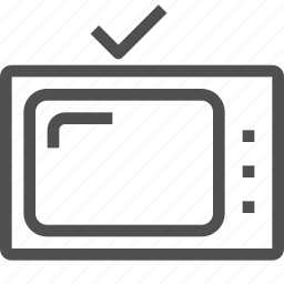entertainment, media, movie, old-style, television, tv, tv show icon