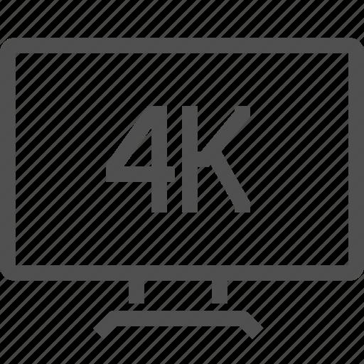 4k, digital, entertainment, format, movie, quality, video icon
