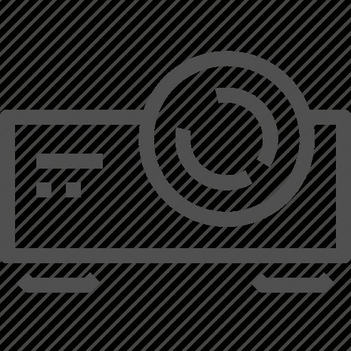 cinema, devices, film, multimedia, presentation, projector, video icon