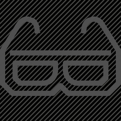 3d, cinema, film, glasses, look, movie, video icon