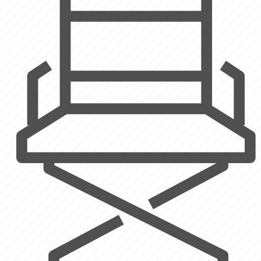 chair, director, field chair, folding chair, producer, seat, stage director icon