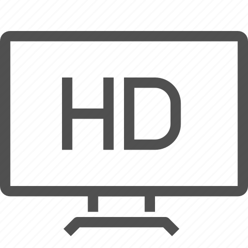definition, format, full, hd, high, video, wide-screen icon