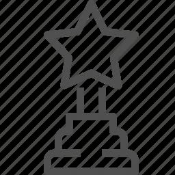 award, gift, premium, prize, reward, star, trophy icon