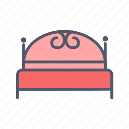 bed, bedroom, decoration, furniture icon