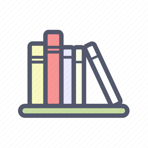books, bookself, decoration, eduaction, furniture, interior, library icon
