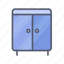cabinet, drawers, furniture, storage icon
