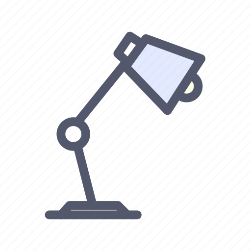 bulb, desk, lamp, light, table, table lamp icon