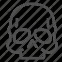 braincase, brainpan, cranium, crime, murder, skull icon
