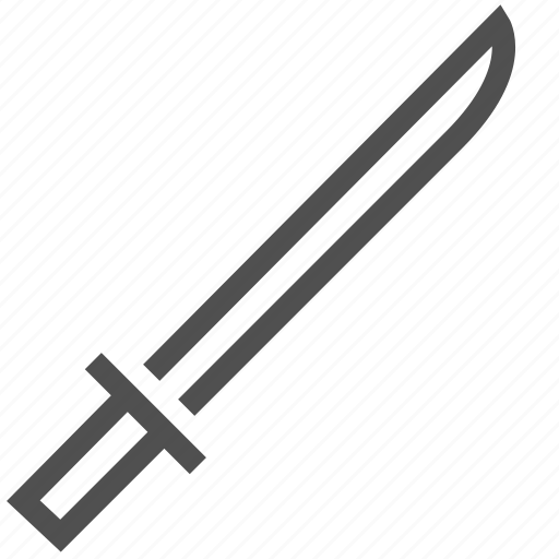 blade, crime, falchion, implement, knife, sword icon