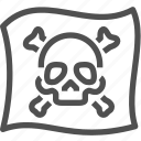 buccaneer, crime, criminal, flag, mafia, pirate, skull icon