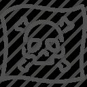 crime, criminal, flag, mafia, pirate, buccaneer, skull