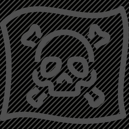 buccaneer, crime, criminal, flag, mafia, pirate, skull icon