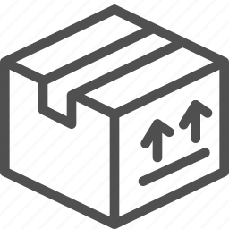 arrows, box, mailing, packed, parcel, premiss, sending icon