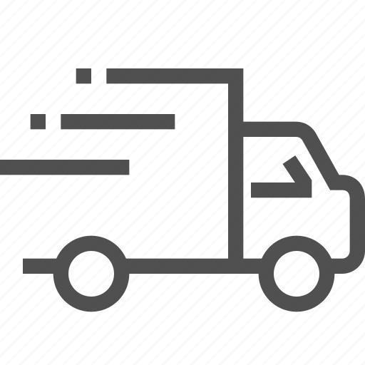 delivery, express, fast, lorry, quickly, supply, truck icon