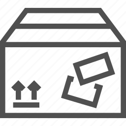 arrows, box, mailing, packed, parcel, sending, stamp icon