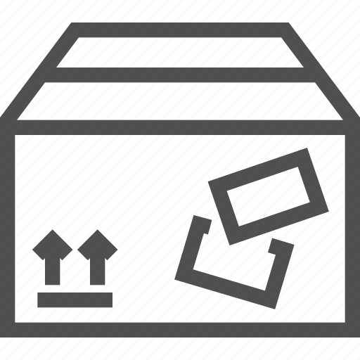 Box, sending, parcel, stamp, arrows, mailing, packed icon