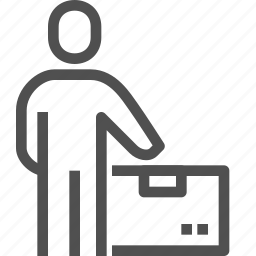 bringing, carrier, courier, delivery, man, messenger, parcel icon