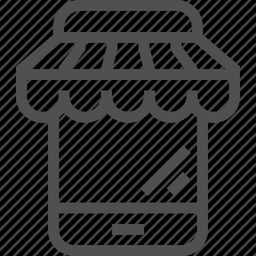 Business, ecommerce, internet, mobile, online, shop, smartphone icon - Download on Iconfinder