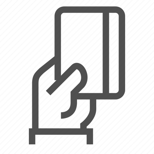 bank, card, credit, finance, hand, non-cash, payment icon