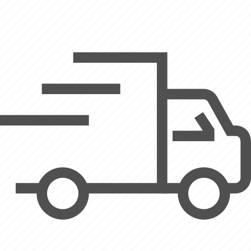 delivery, express, lorry, quick, shipping, transportation, truck icon