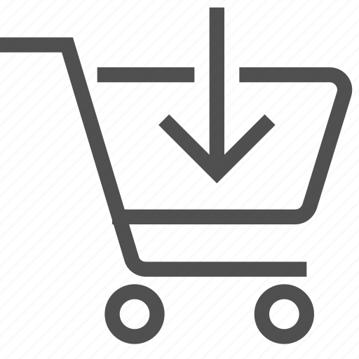 add, arrow, basket, cart, put in, shopping bag, store icon