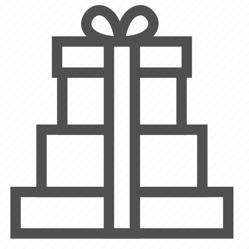 box, gift, gifts, package, purchases, ribbon, shopping icon