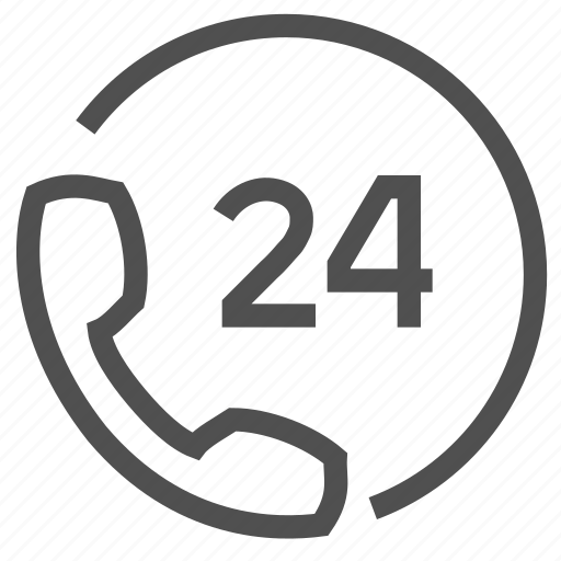 call, center, help, phone, procceed, support, twenty four icon