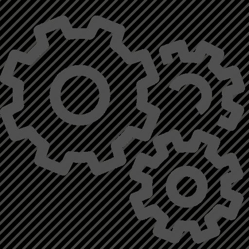 cogwheel, gear, gearwheel, group, motion, setup, transmission icon