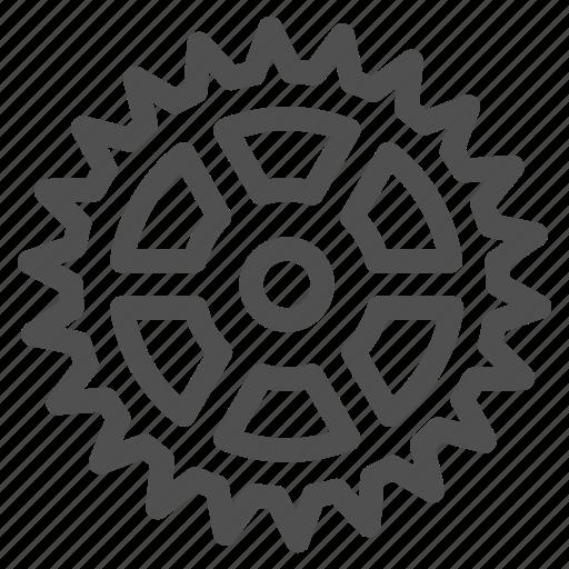 bicycle, circle, cogwheel, gear, gearwheel, mechanics, motion icon