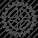 circle, cogwheel, gear, gearwheel, mechanics, motion icon