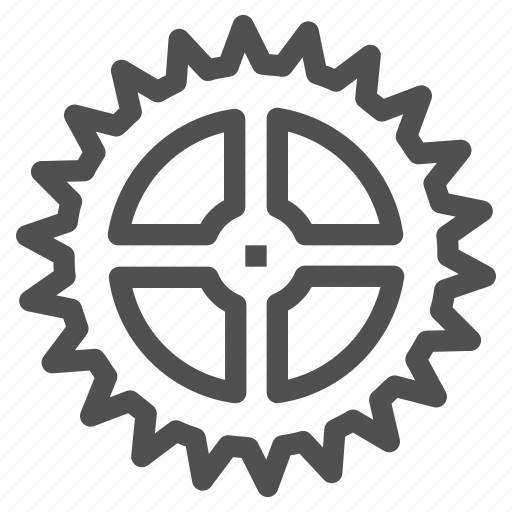 circle, cogwheel, gear, gearwheel, mechanics, motion icon