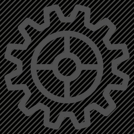 circle, cogwheel, gear, gearwheel, motion, transmission icon